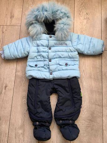 Детский комбез на натур овчинке(отстёгивается) зима/осень