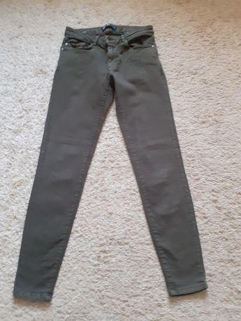 Spodnie Zara khaki 36