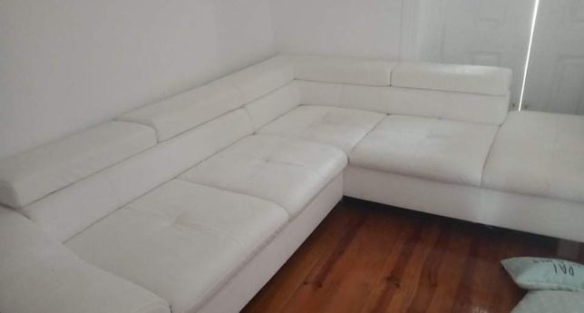 Sofá canto branco