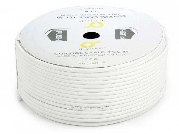 kabel antenowy miedziany rdzeń 100 metrów