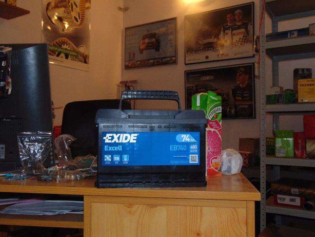 Akumulator Exide Excell EB740 12V 74Ah 680A Tanio Wymiana Kraków CB740