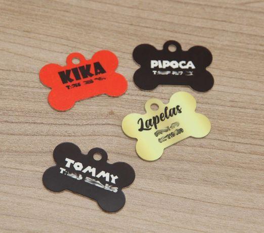 Chapas para cão e Gato personalizáveis
