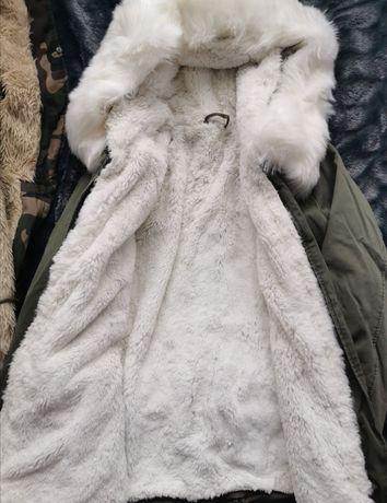Kurtka płaszcz parka zimowa na misiu.