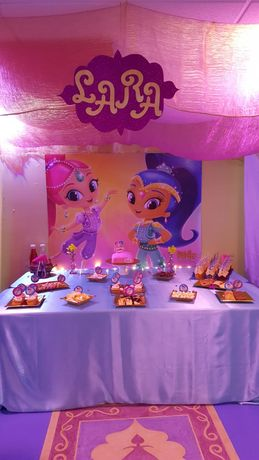 Tela Shimmer e Shine - Festas