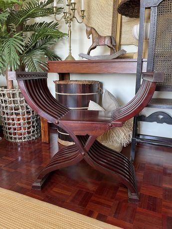 Banco Banqueta Cadeira Clássica Inglesa Vintage Decoração