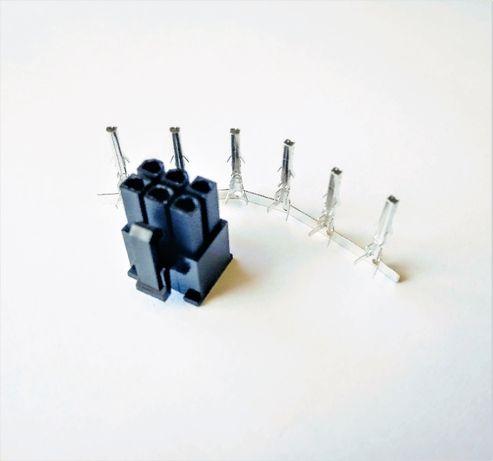 Коннектор 6 pin пин (папа) +контакты