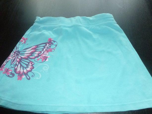 Sprzedam spódniczkę niebieską z motylkiem