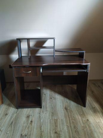 Biurko komputerowe, szkolne + fotel + regał/witryna