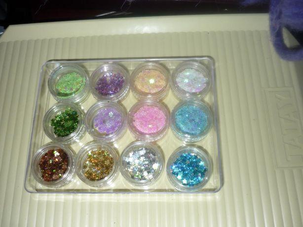 Potes com glitters várias cores