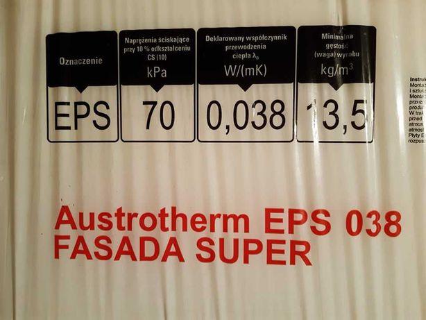 Styropian EPS038 Fasada 15cm Austrotherm. 13 paczek+duże kawałki. 28m2
