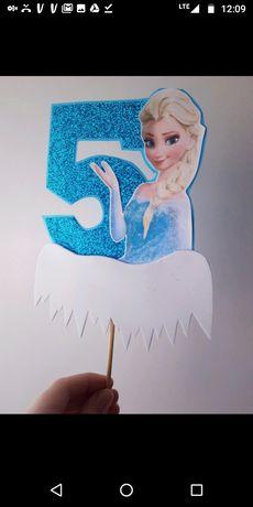 Cake topper dekoracja urodzinowa na tort urodzinowy dla dziewczynki