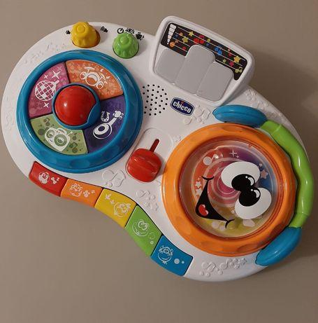 Zabawka interaktywna, grająca, pianinko, konsola chicco