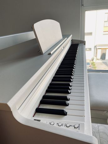 Pianino Dynatone SLP -210 białe na gwarancji, nowiutkie