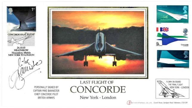 Wielka Brytania 2003-Ostatni lot Concorda-RZADKA KOPERTA!
