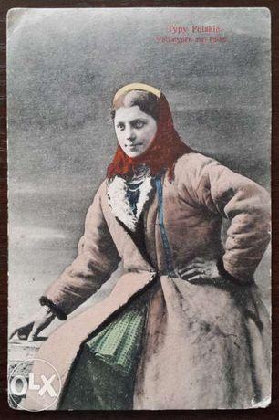 Karta pocztowa z ok. 1920 r. - Typy Polskie