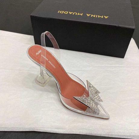 Прозрачные туфли Amina Muaddi Амина Муадди силиконовые лодочки