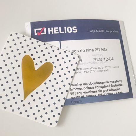 Kupon bilet voucher do kina 3D BO Helios Białystok