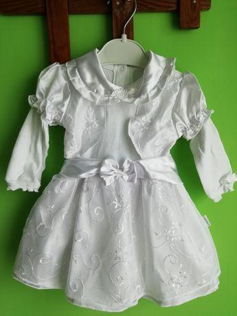 Sukieneczka do chrztu 74/80 + dodatki