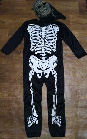 костюм кости скелет с маской 14-16 лет карнавальный хєллоуин