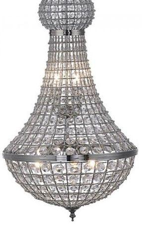 Kryształowa gruszka BOLLY wisząca chrom E14 Leuchten 15104-1 kula
