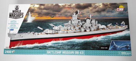 COBI 3084 WoW Battleship MISSOURI (BB-63) Amerykański pancernik IOWA