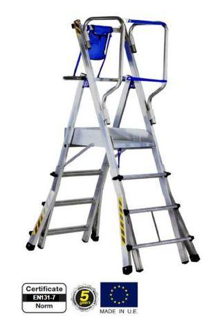 Plataforma / Escada Móvel de Trabalho Guarda Copos 360º