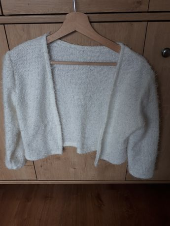 Sweterek ślubny bolerko narzutka 38