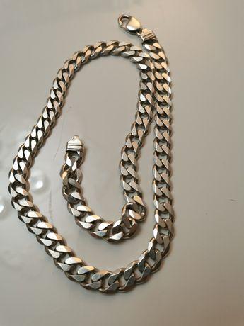 Srebrny łańcuszek 55cm
