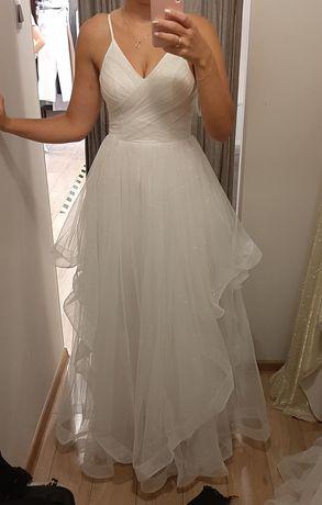 Suknia ślubna S ślub cywliny kościelny biała poprawiny