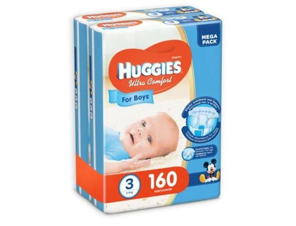 Подгузники Huggies Ultra Comfort 3 Mega для мальчиков 80 шт