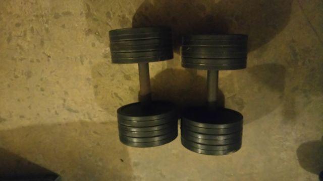 Hantle Marbo Sport w gumie 2x25kg