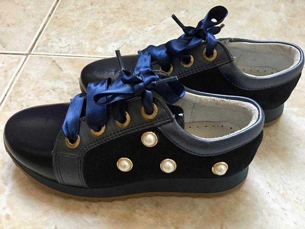 Sapato menina azul 31