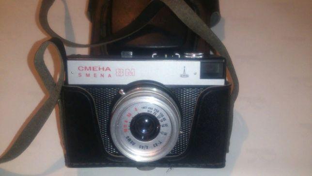 Одним лотом: фотоаппарат Смена 8 М и кассетный магнитофон Kimei Bird