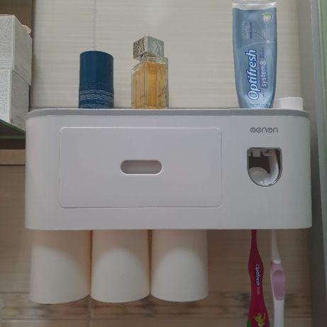 Дозатор для зубной пасты, держатель щеток, огранайзер