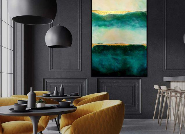 """Obraz """" Ocean"""" 80x120 cm Abstrakcja, Akryl. Okazja!"""