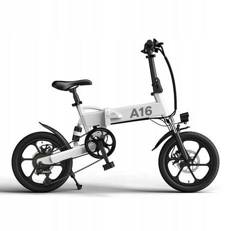 Rower elektryczny ADO a16 biały
