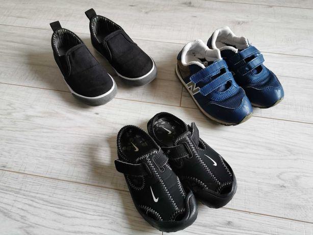 Buty chłopięce (adidasy, tenisówki) New Balance, Reima, Nike r26