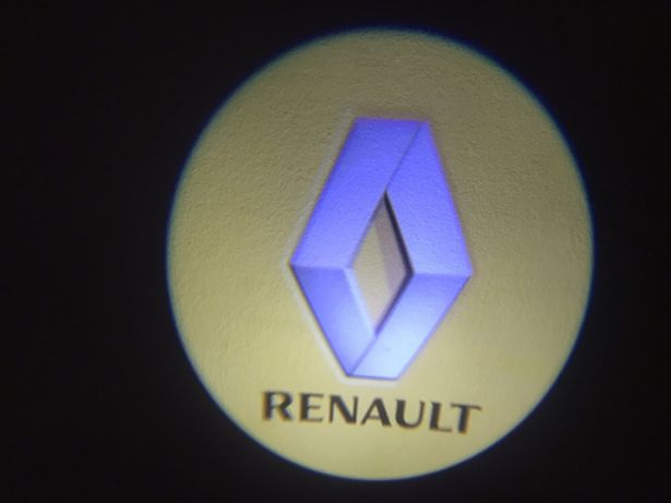 Renault oświetlenie auta samochodu drzwi światło 3D led prezent