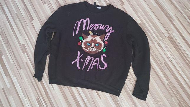 H&M świąteczny sweterek r.M