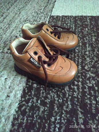 Кожаные детские ботинки