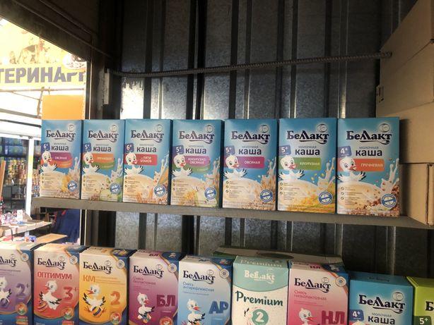 Каши беллакт молочные и безмолочные смеси
