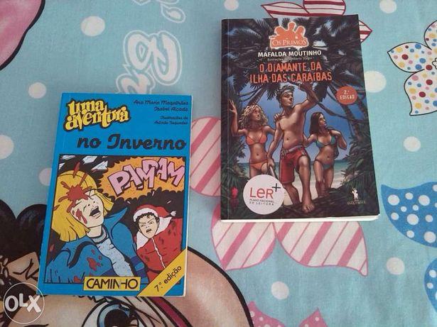 """Livros das coleções : """"uma aventura"""" e """"os primos"""""""