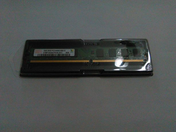 Módulo de DDR2 PC2-6400U Hynix, 800MHz., de 2GB, NOVA.