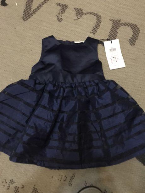 Классное нарядное платье на девочку, Name it, на 9-12 месяцев