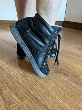 Ботинки сапоги сникерсы натуральная кожа