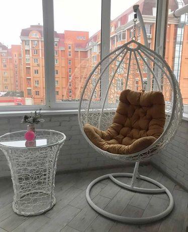 Садовая качель СО СТОЙКОЙ, подвесное кресло кокон, подвесное кресло