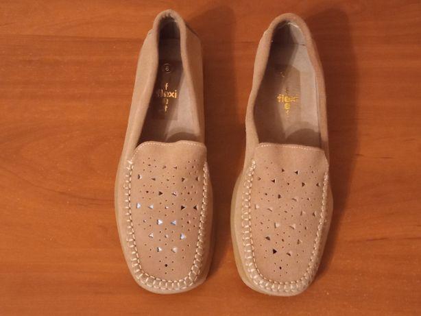 Туфли мокасины тапки замшевые на полиуретановой подошве