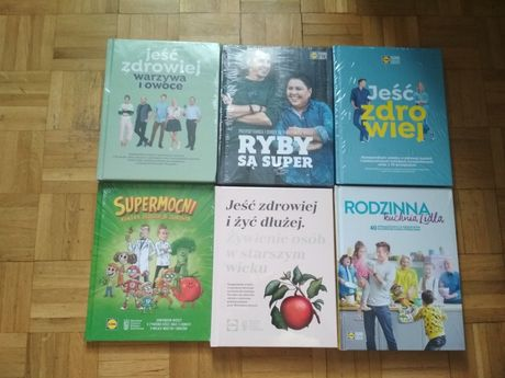 Lidl książki nowe, zafoliowane -zestaw 6 szt, idealne na prezent