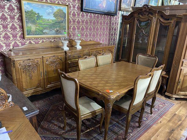 Jadalnia | komplet mebli | stół|komoda|witryna | antyki stylowy wegrow