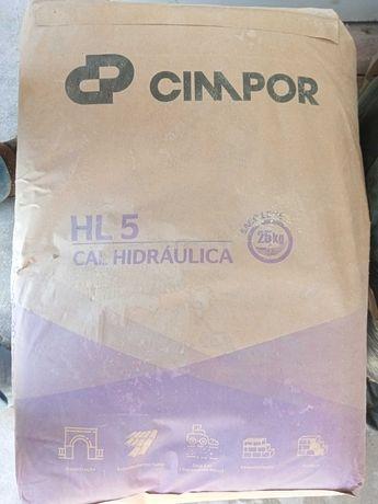 2 sacos de cal hidráulica Cimpor HL5